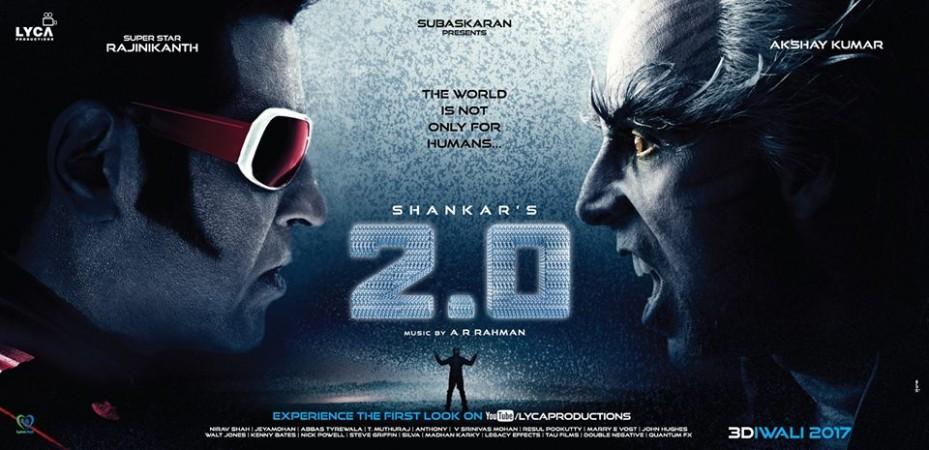 Rajinikanth and Akshay Kumar in 2.0