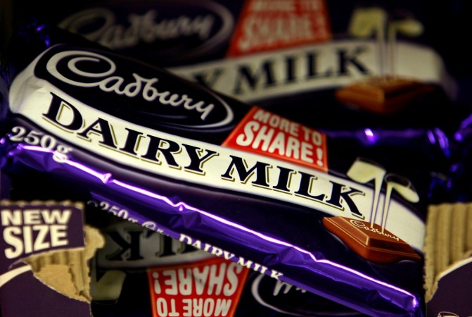 Cadbury chocolate bars are seen in a shop in London June 23, 2006.