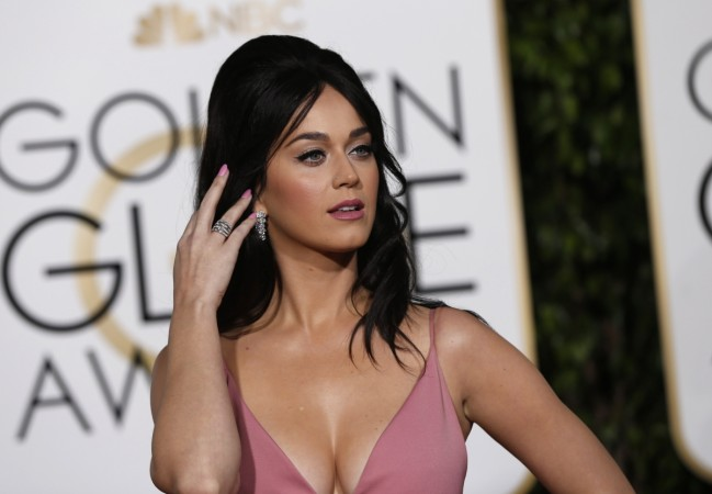 Singer Katy Perry arrives at the 73rd Golden Globe Awards in Beverly Hills California