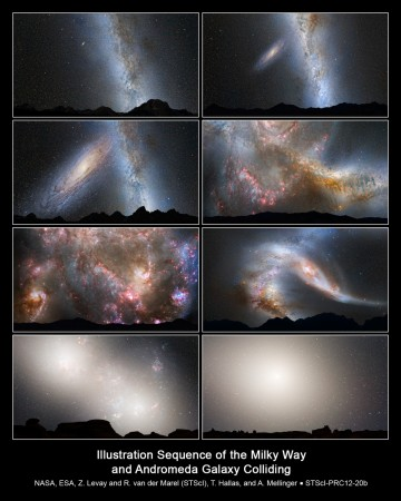 Andromeda Milky Way merger