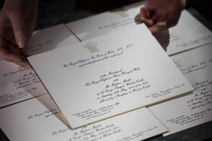 Prince Harry Meghan Markle wedding invite