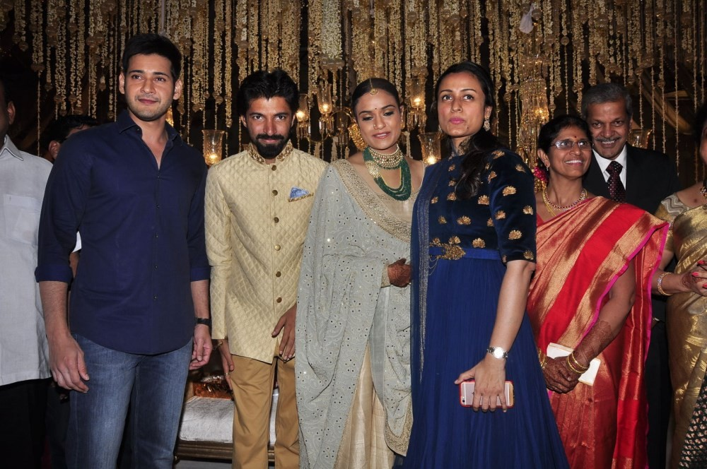 Priyanka Dutt Wedding Reception,Nag Ashwin Wedding Reception,Priyanka Dutt and Nag Ashwin Wedding Reception,Mahesh Babu,Allu Arjun,Ram Charan,Venkatesh
