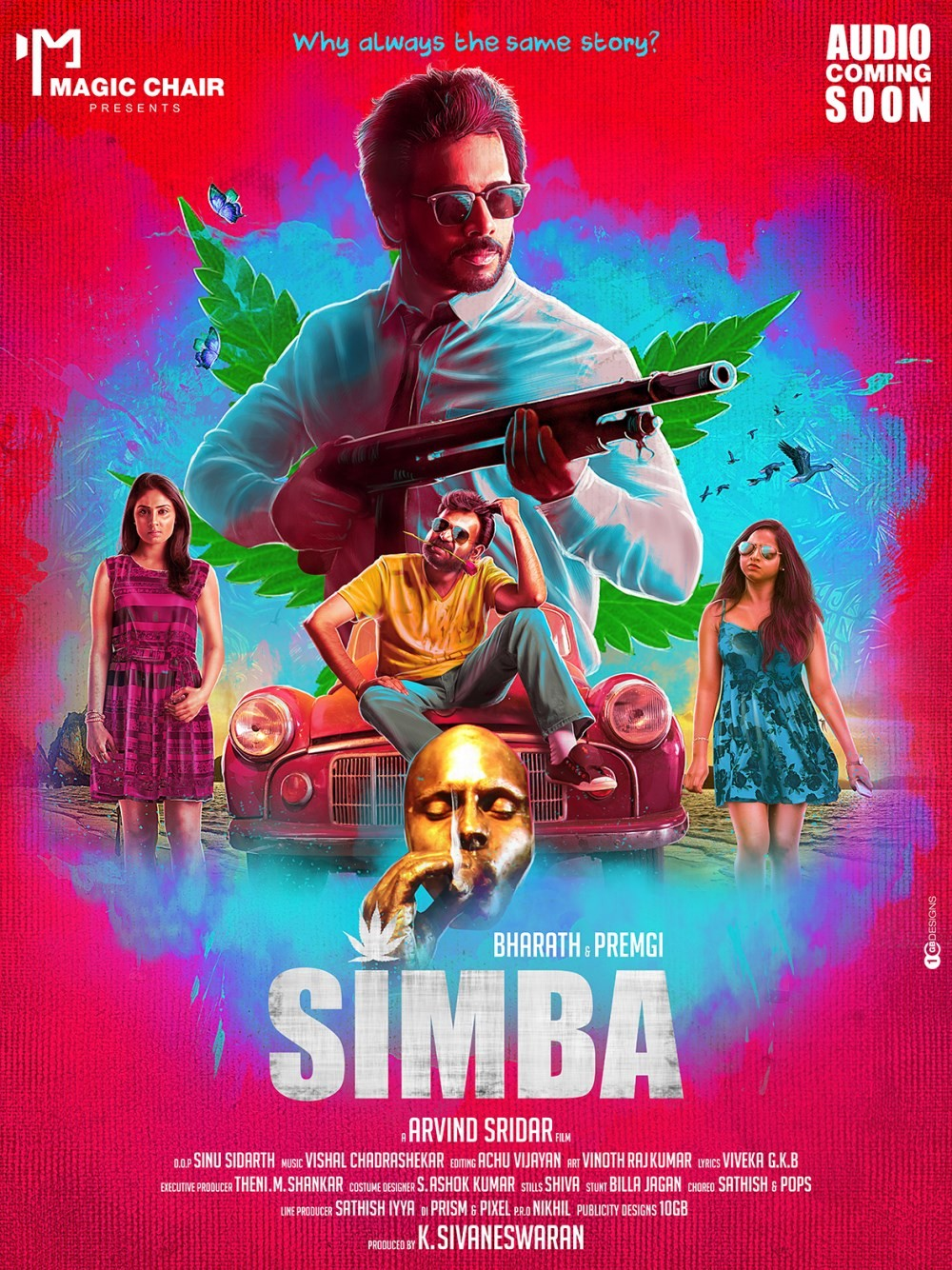 Simba,Simba first look,Simba first look posters,Simba posters,Bharath,Premgi Amaran,Bharath Simba,tamil movie Simba,Simba movie stills,Simba movie pics,Simba movie images,Simba movie photos