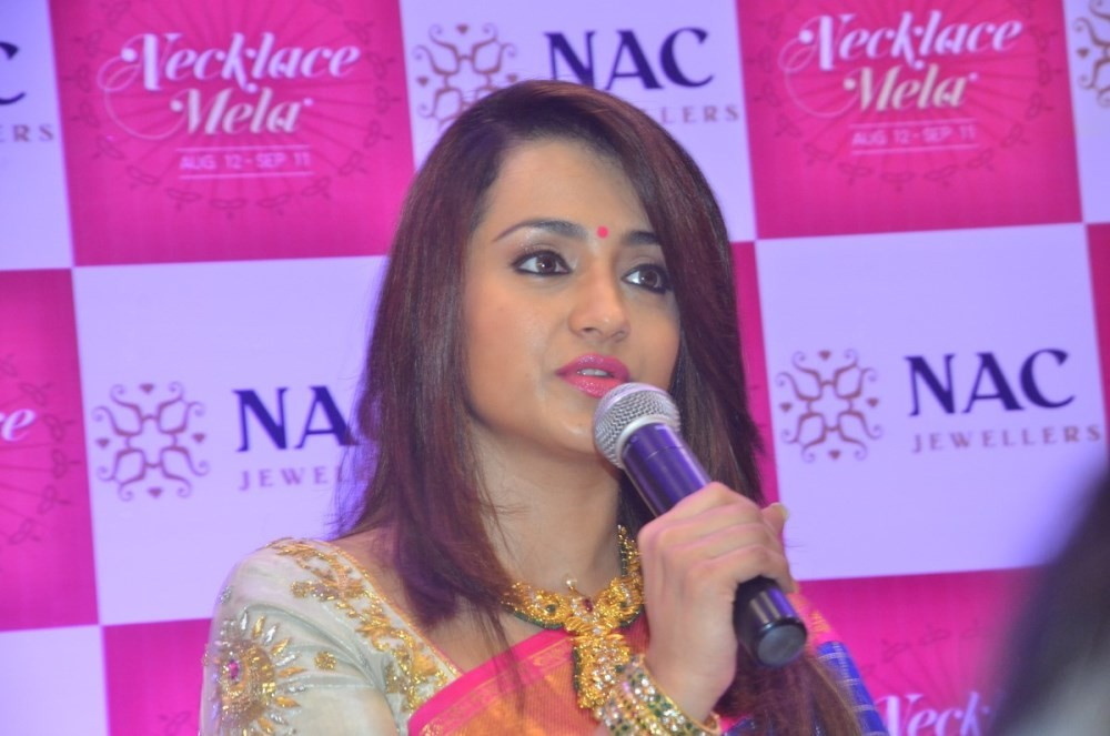 Trisha,Trisha inaugurates NAC Jewellers,Trisha Krishnan,NAC Jewellers Necklace Mela,actress Trisha,Trisha latest pics,Trisha latest images,Trisha latest photos,Trisha latest stills,Trisha latest pictures