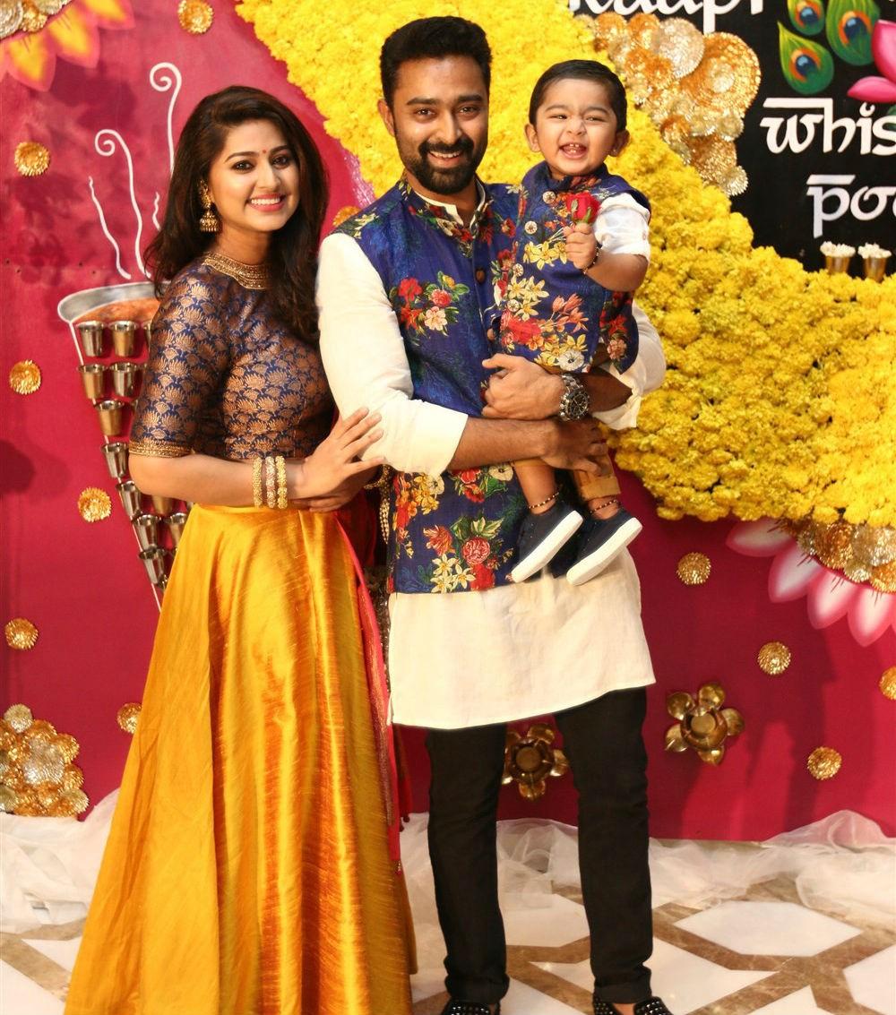 Jayam Ravi, Latha Rajinikanth, Sneha, Trisha at Raadhika Sarathkumar's ... Horns Movie Poster