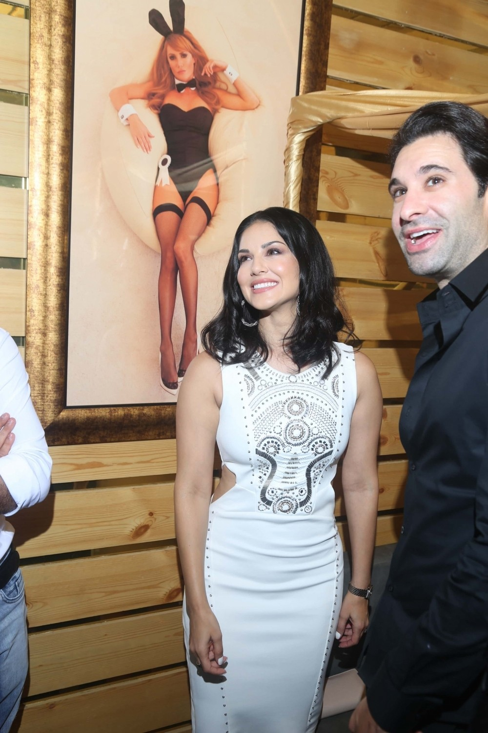 Sunny Leone,actress Sunny Leone,Sachiin Joshi,Parag Sanghavi,Producer Parag Sanghavi,Sunny Leone launches Playboy Cafe,Playboy Cafe,Sunny Leone latest pics,Sunny Leone latest images,Sunny Leone latest photos,Sunny Leone latest stills,Sunny Leone latest pi