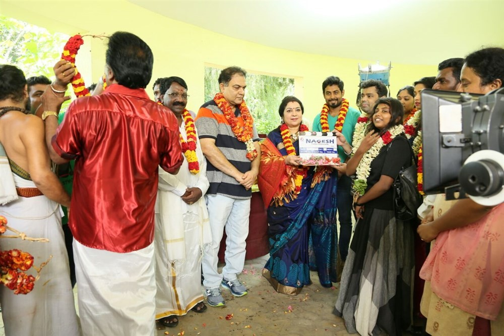 Nagesh Thiraiarangam movie launch,Nagesh Thiraiarangam,Nagesh Thiraiarangam movie pooja,Aari,Ashna Zaveri,Kaali Venkat,Latha,MS Prabhu,Mohamad Issack,Nagesh Thiraiarangam movie launch pics,Nagesh Thiraiarangam movie launch images,Nagesh Thiraiarangam movi