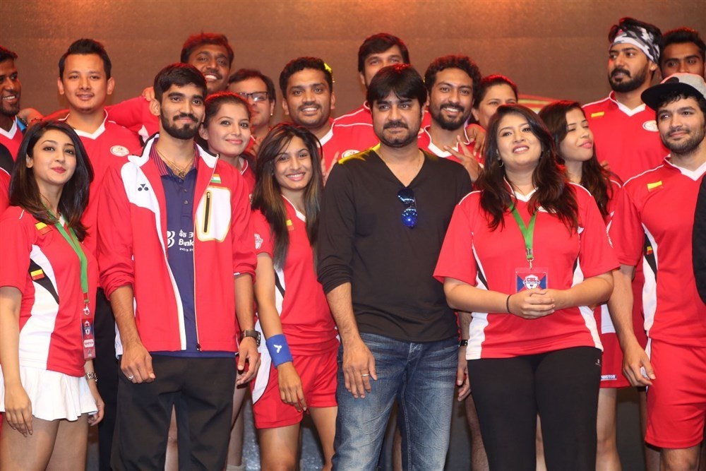 Celebrity Badminton League Launch,Celebrity Badminton League,Naga Chaitanya,Arya,Jayaram,Prasanna,Vaibhav Reddy,Tarun,Srikanth,Lakshmi Manchu,Aindrita Ray,Sanjjanaa,Tejaswi Madivada,Suja Varunee,Sudheer Babu,Iniya,Gayathrie Shankar,Rupa Manjari,Sanghavi
