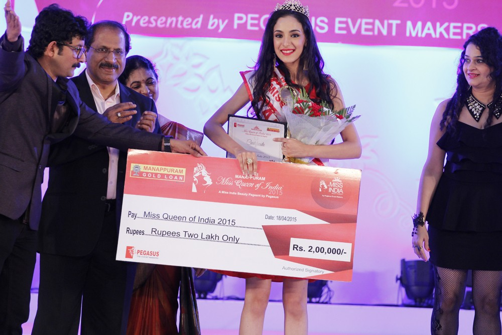 Kanika Kapur from Delhi was become the Miss Queen of India 2015.