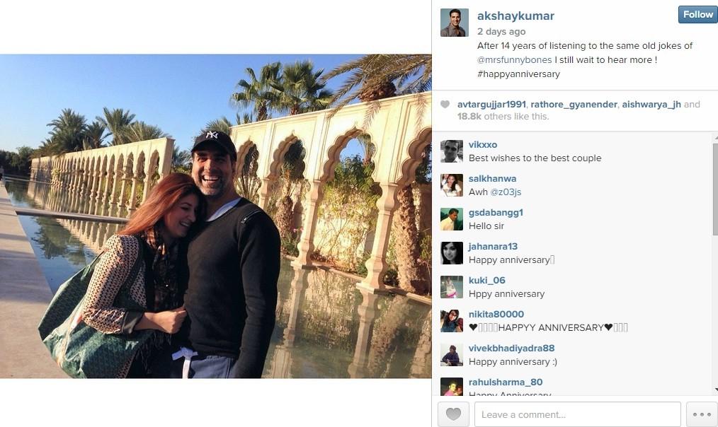 Akshay Kumar, Twinkle Khanna Celebrates 14th Marriage Anniversary