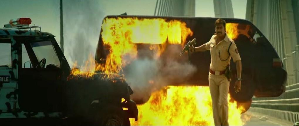 Action scene from Singham 2