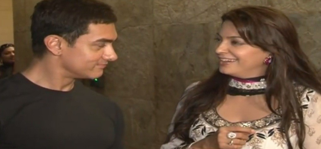Juhi Chawla and Aamir Khan