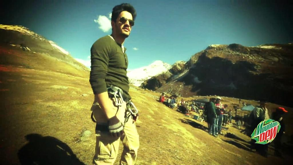 Akhil Akkineni Shoots With Arya for Mountain Dew Film