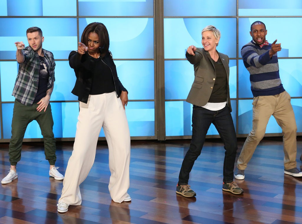 Michelle Obama dances with Ellen DeGeneres