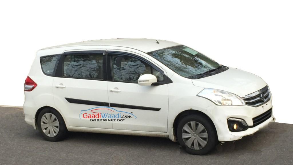 Maruti Ertiga Facelift Spied Testing