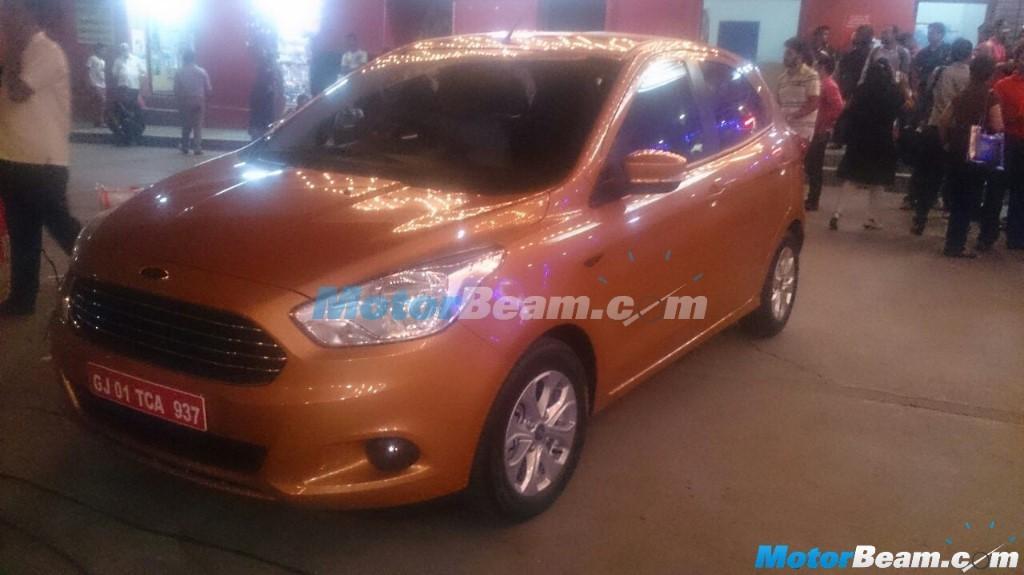 2015 Ford Figo Hatchback Spied Completely Undisguised