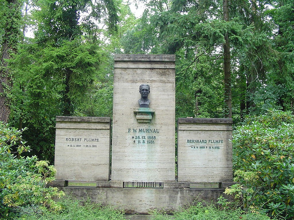 Grave of German filmdirector Friedrich Wilhelm Murnau at de:Südwestkirchhof Stahnsdorf near Berlin, Germany