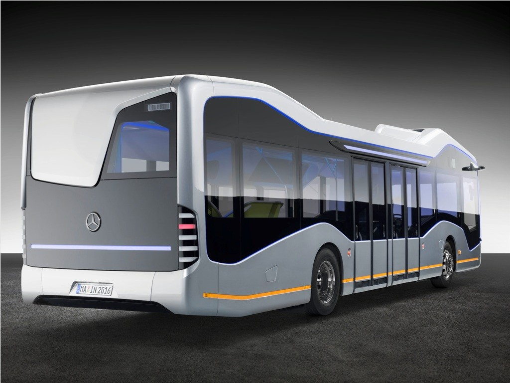 Mercedes benz shows off future bus with autonomous for Mercedes benz busses