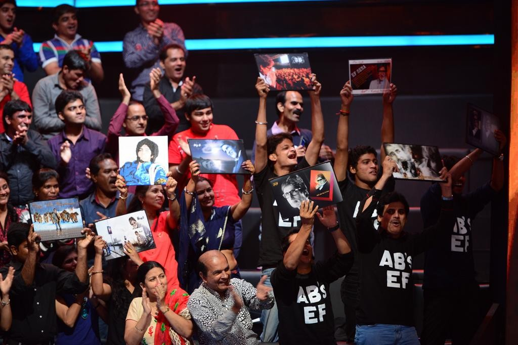 Fans of Amitabh Bachchan on the show