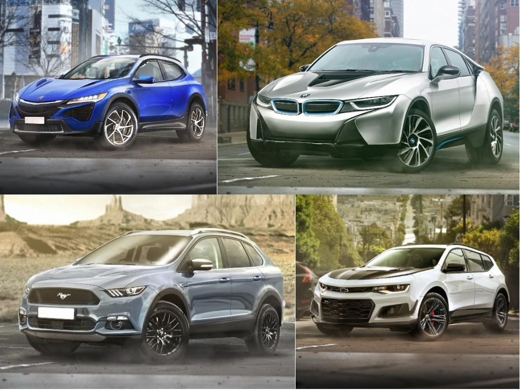 Sports cars imagined as SUVs
