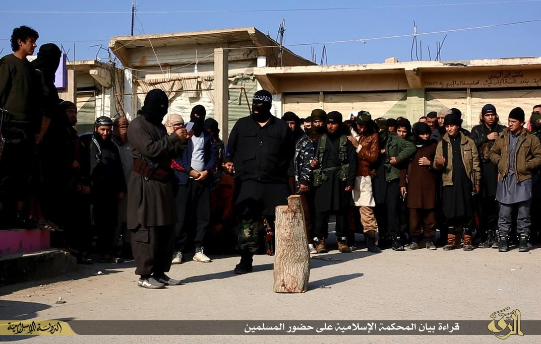 Many young ISIS recruits from its 'cub' camps armed with AK 47 were also present at the beheading.
