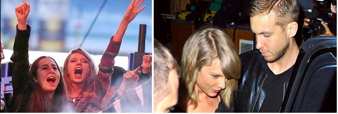Taylo Swift and Calvin Harris
