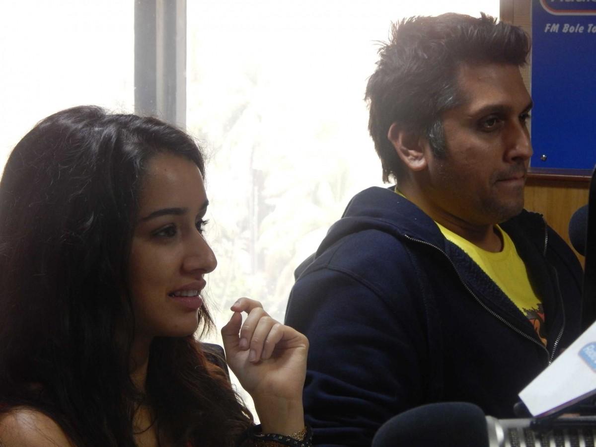 Shraddha Kapoor and director Mohit Suri  promote their upcoming movie 'Ek Villain'at 91.1 FM Radio City