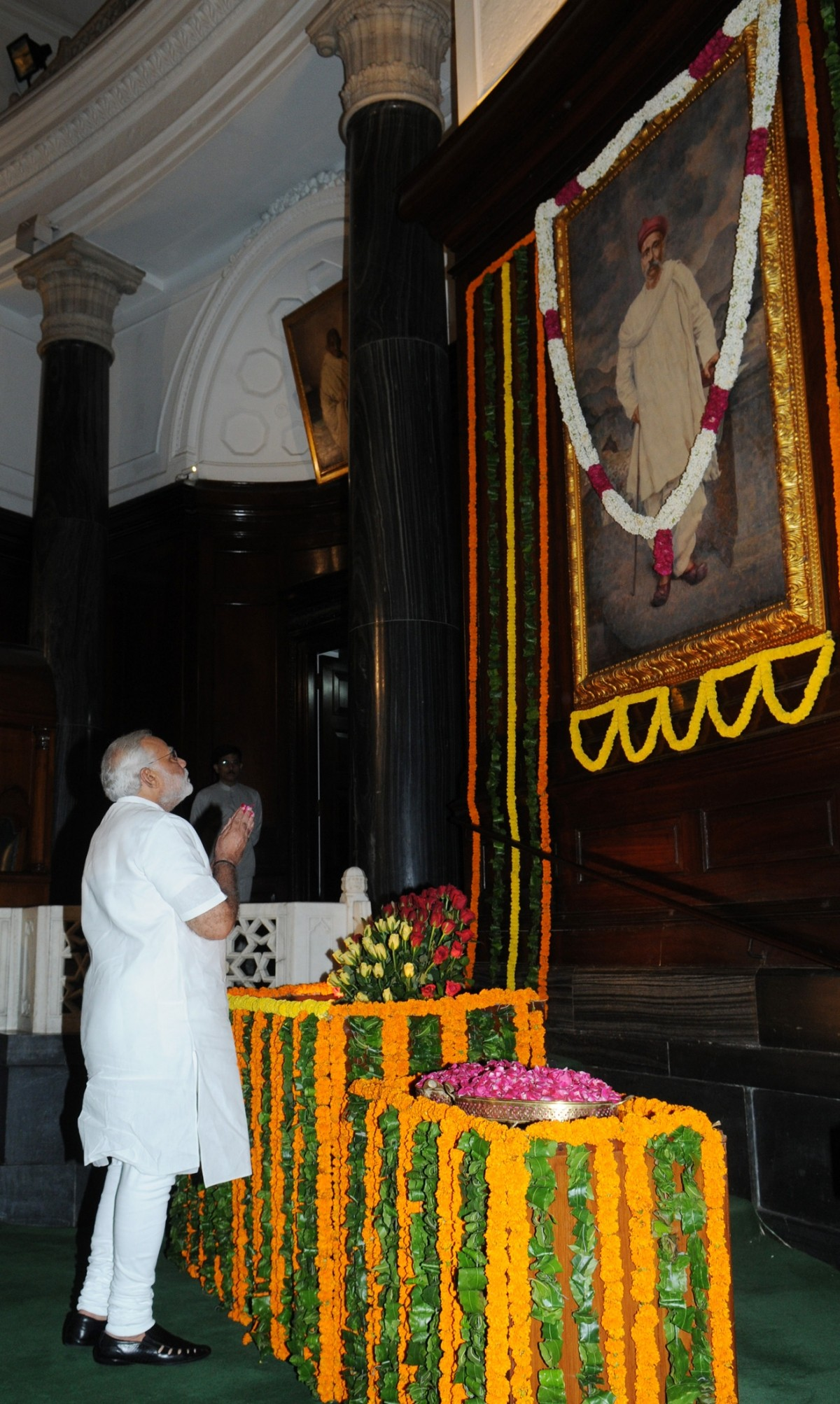 Modi pays tribute to Lokmanya Bal Gangadhar Tilak on his birth Anniversary on 23 July at the Parliament.