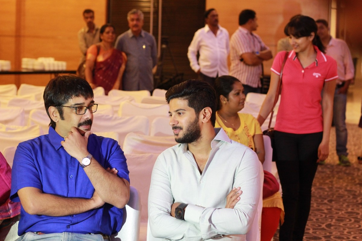 Vineeth and Dulquer Salmaan at the Launch function