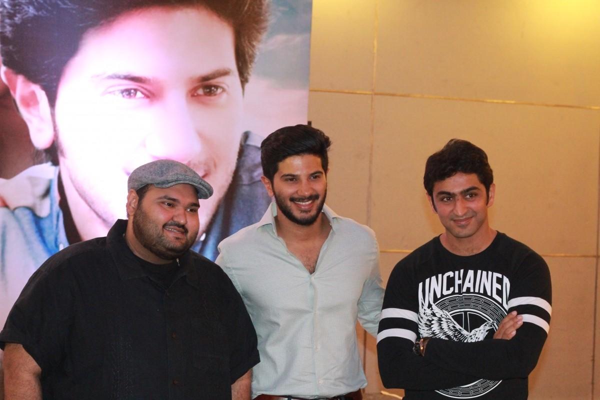 Shekhar Menon, Dulquer Salmaan and Rahul Madhav