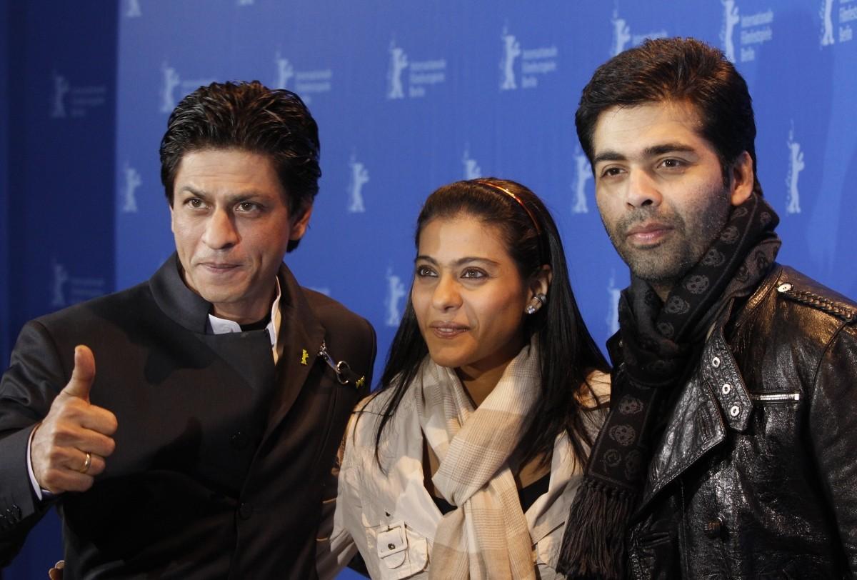 Shah Rukh Khan, Kajol and Karan Johar