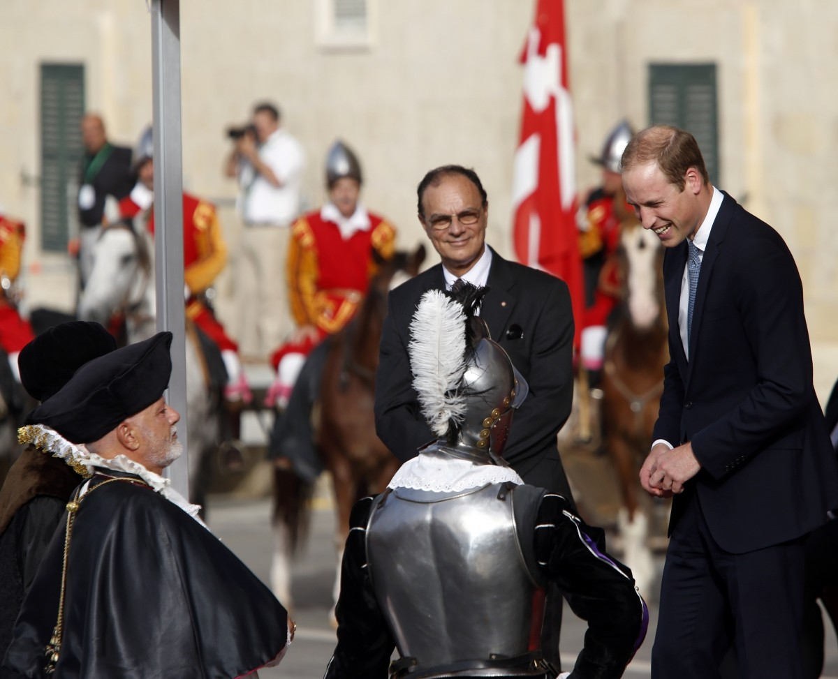 Prince William Apologises to Crowd for his Pregnant Wife's Absence in Malta