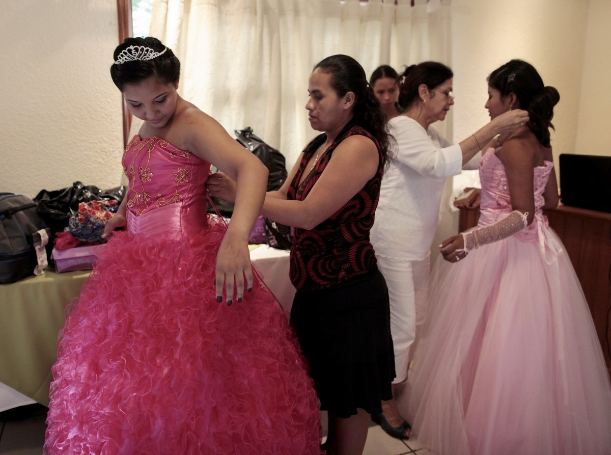 Female cancer patients prepare for their Quinceaneraa