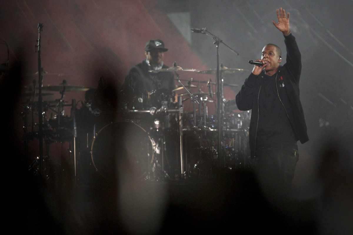 Jay-Z performs at the Global Citizen Festival 2014