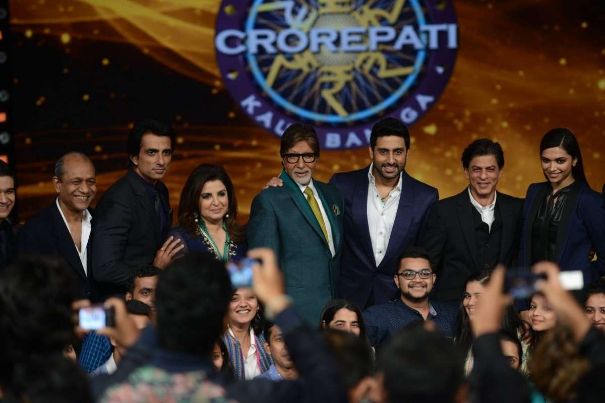 Shah Rukh Khan's 'Happy New Year' Team on Amitabh Bachchan's 'Kaun Banega Crorepati 8'