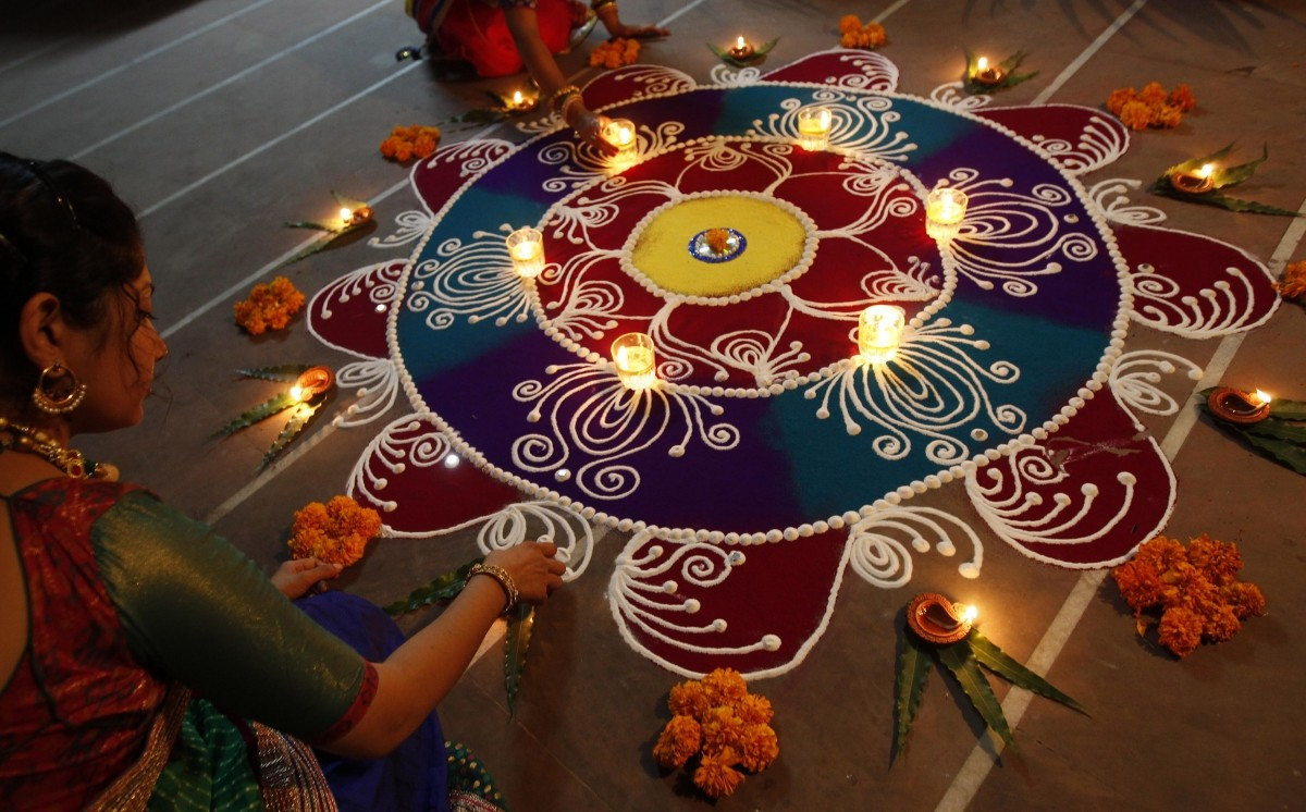 Diwali 2014 Beautiful Rangoli Designs For This Festival