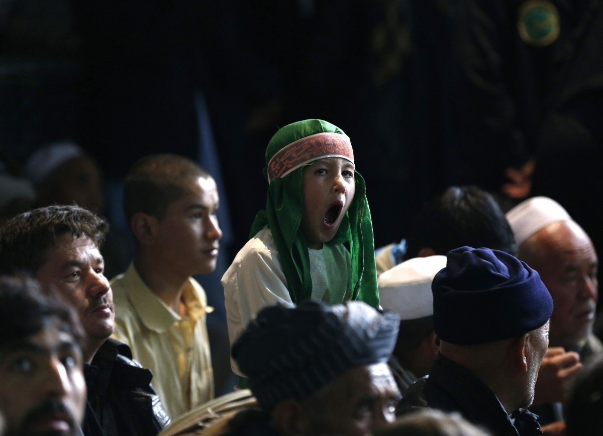 speech during an Muharram procession in Kabul