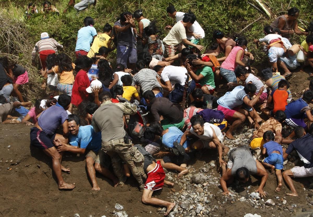 survives wait for relief aid