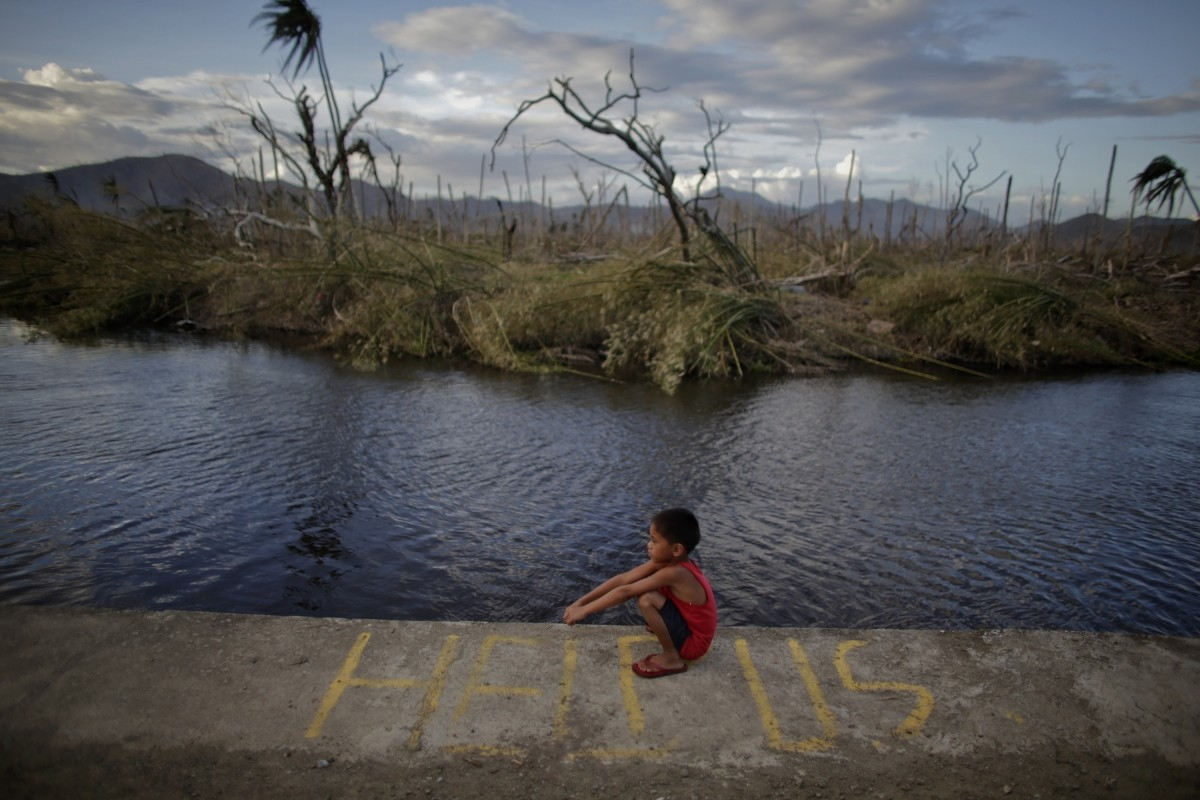 Survivor of Typhoon Haiyan asks for help
