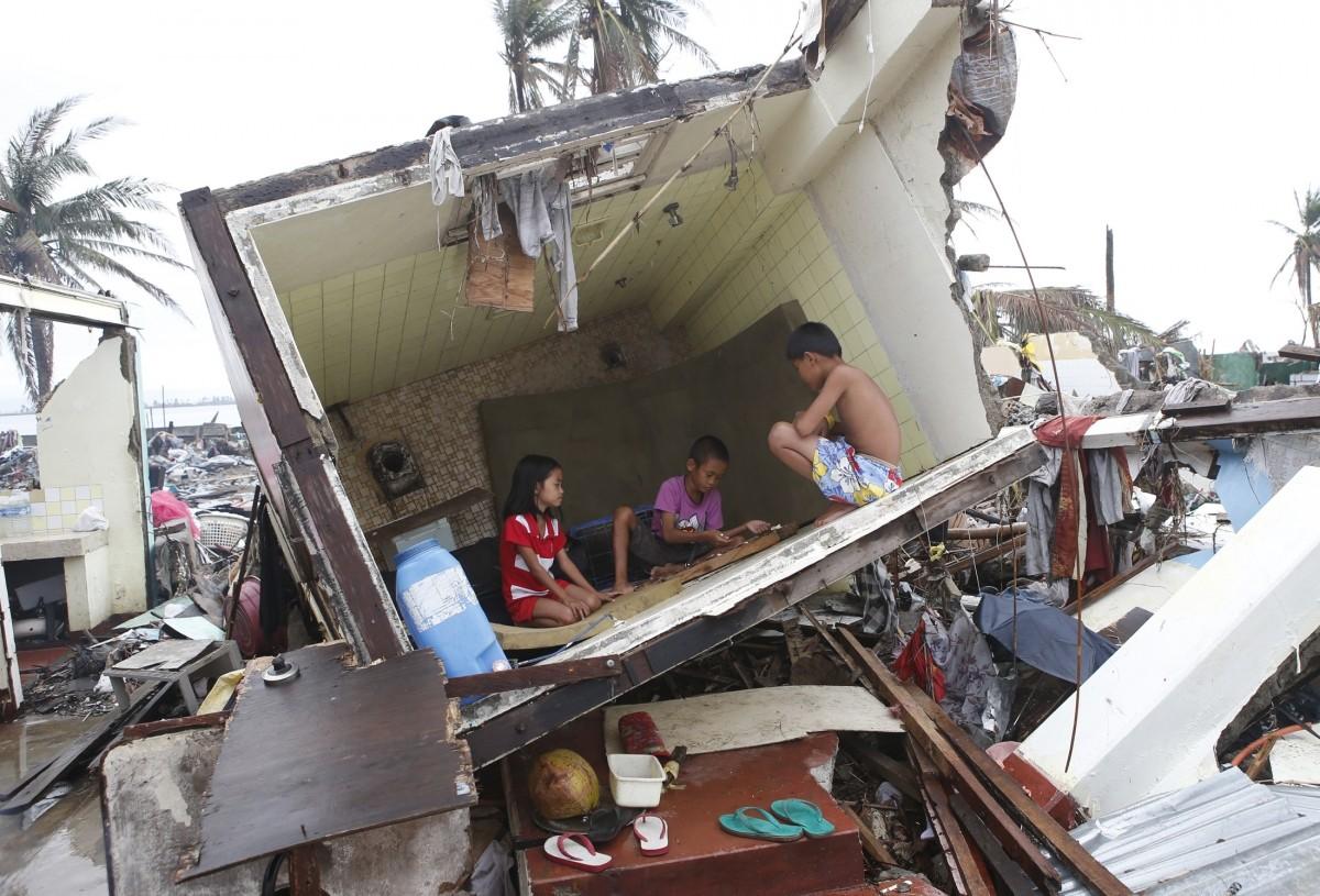Survivor of Typhoon Haiyan