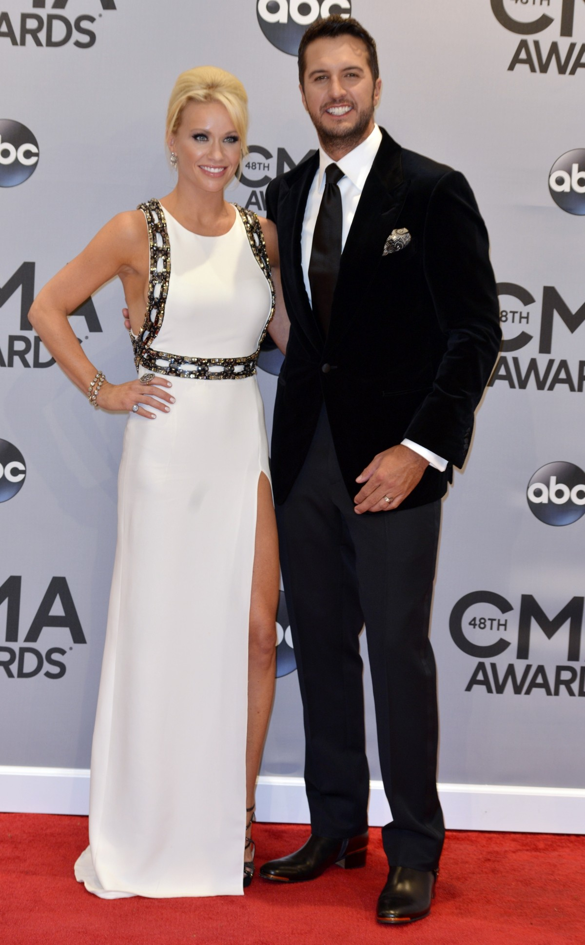 Luke Bryan and wife at the CMAs
