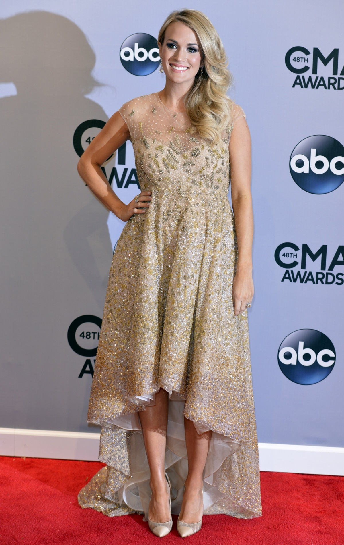Carrie Underwood at CMA red carpet