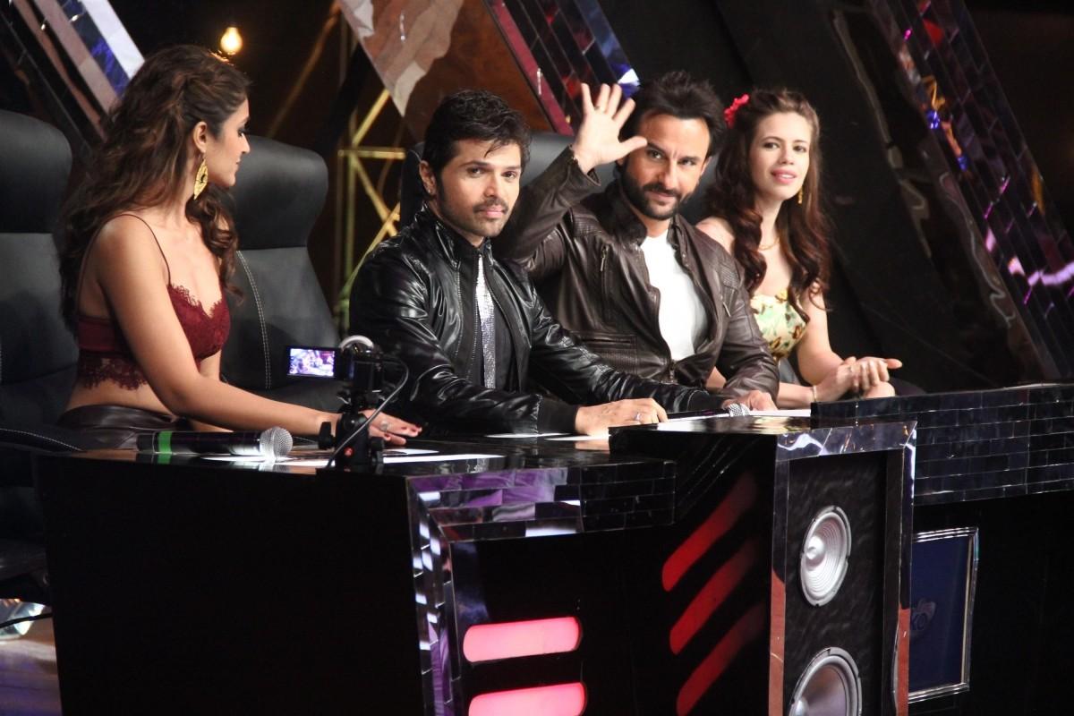 Saif Ali Khan, Ileana D'Cruz and Kalki Koechlin promotes 'Happy Ending' on India's Raw Star