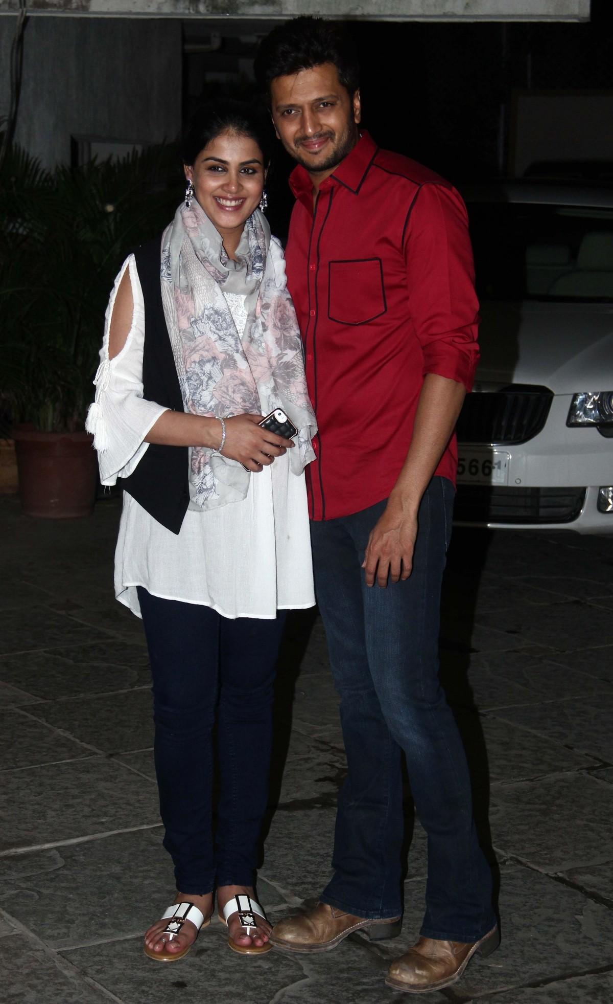 Riteish Deshmukh and wife