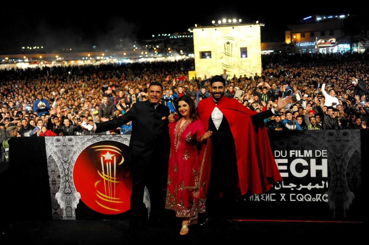 Farah Khan, Abhishek Bachchan and Boman Irani presented 'Happy New Year' at the 14th Marrakech International Film Festival