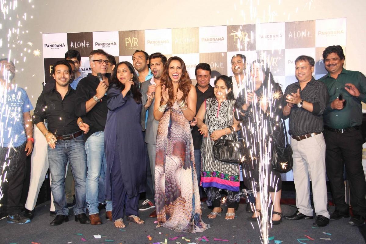 Bipasha Basu, Karan Singh Grover at Trailer Launch of 'ALONE'