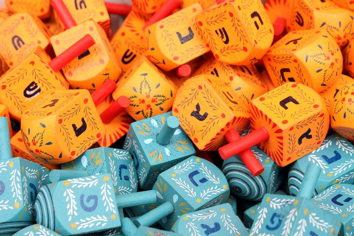The driedel – a popular four-sided toy – is an important symbol for the Hanukkah/Chanukah period. It is a spinning top containing different Hebrew letters inscribed in each of its four sides.