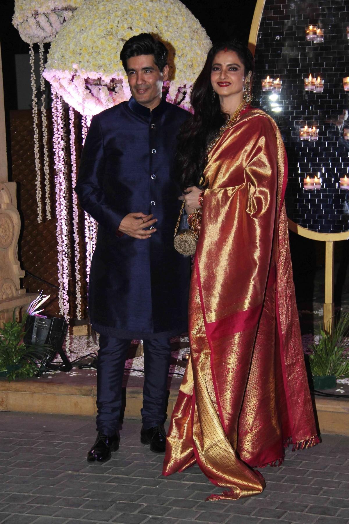 Manish Malhotra and Rekha