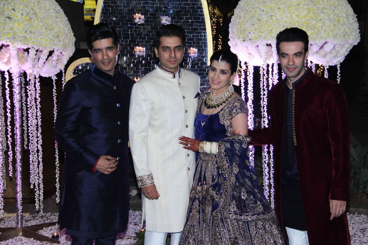 Manish Malhotra, Tejas Talwalkar, Riddhi Malhotra and Punit Malhotra