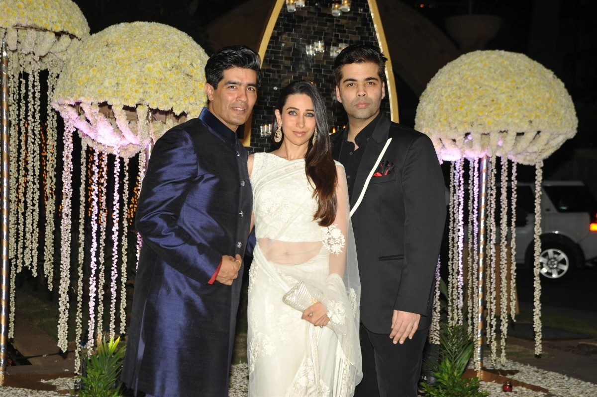 Manish Malhotra, Karishma Kapoor, Karan Johar